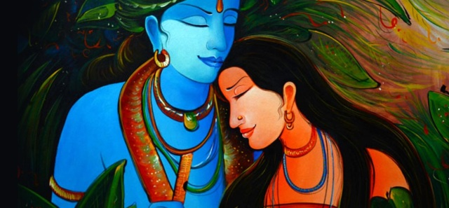 Romantic-Love-Painting-Radha-Krishna-with-Green-Background-HD-Wallpaper (1)